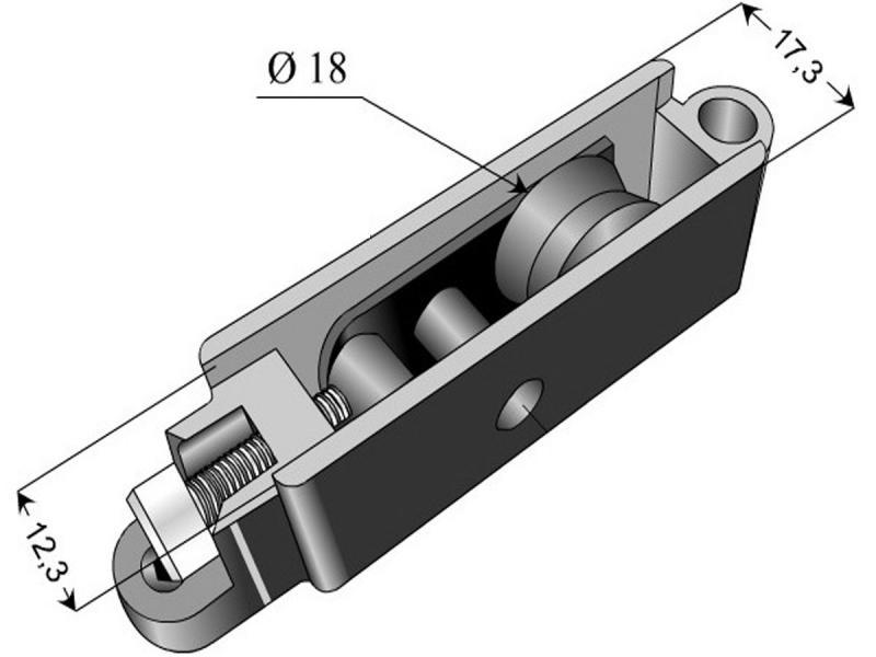 Roulette Technal baie vitrée coulissante Réf. 1952